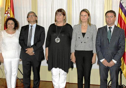 Joana Aina Campomar, Vicenç Thomàs, Xelo Huertas, Maria Salom y Miguel Jerez.