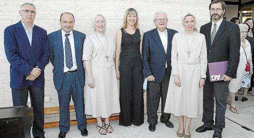 Marc Carbonell, Pere Grimalt, Ana Arnau, Maria Antònia Puigròs, Xavier Salinas, Maria Canel y Jaime Vázquez.