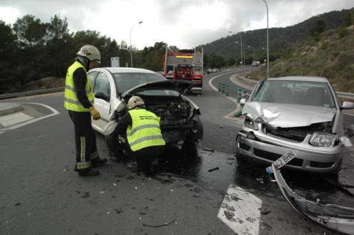 Accidente registrado en un punto negro en el término municipal de Andratx.