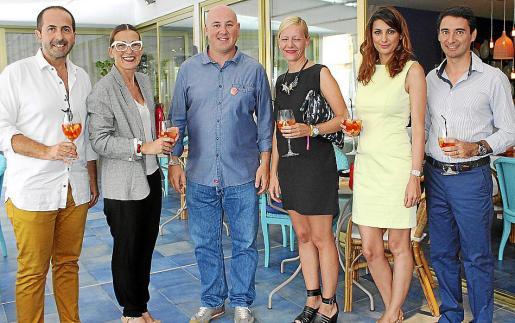 Antonio Fernández-Coca, Patricia de Ysasi, Tomeu Caldentey, Anuska Menéndez, Carolina Ballester y Llorenç Ferrer.