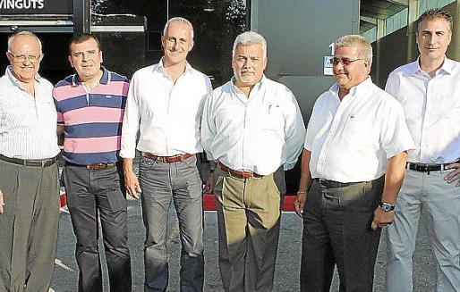 Tomeu Julià, Manuel López, Joan Morey, Manolo Gago, Vicente Ibáñez y Pepe Muñoz.