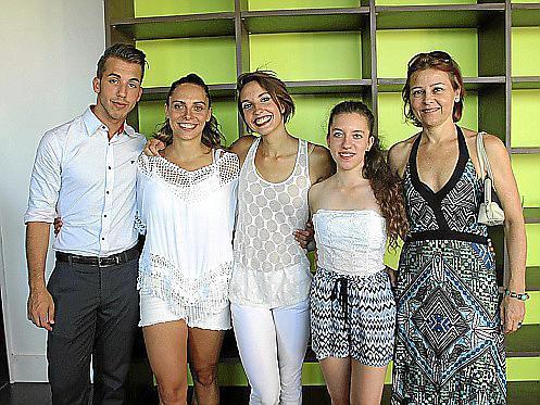 Jehosua Vogele, Silvia Garcías, Lauriane Orsini, Aina Plaza y Clara Albons.