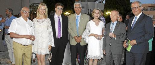 Ignacio Forteza-Rey, María Dolores Caldentey, Antonio Bennàssar, Félix Pons, Ana Villanueva, Alfonso Ballesteros y José Estelrich.
