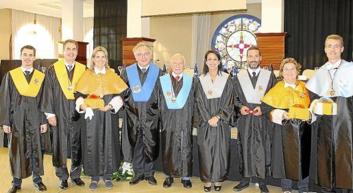 Joan Coll, Mario Barquero, Carmen Barquero, José Luis Vidal, Gabriel Sampol, Imma Benito, Jaime Anglada, Natalia Ensenyat y José Daniel Barquero.