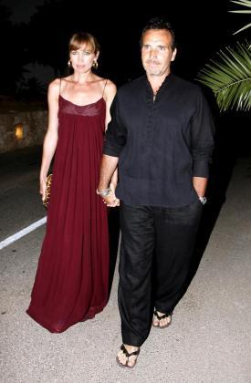 La modelo Nieves Álvarez y su marido, el fotógrafo Marco Severini, en una imagen de archivo.