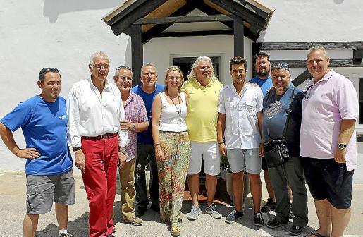 Pedro Franco, Damián Vich, Toni Sánchez, Ángel Alfaro, Sandy y Dirk Abel, Christian Abel, Daniel Vich, Tomeu Durán y Andrés Abril.