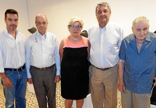 Carlos Rullan, Bartomeu Oliver, Maria Boter, Toni Pons y Amador Pastor.