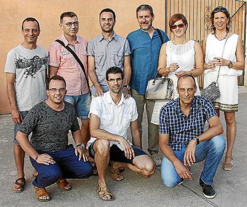 De pie: Pere Sansó, Josep Brunet, Toni Gomila, Pep Fiol, Cati Vich y Xisca Vaquer. Delante: Joan Galmés, Rafel Pastor y Miquel R. Oliver.