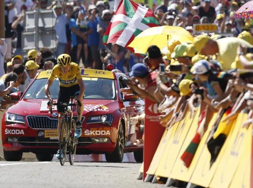 El ciclista del equipo Sky refuerza su liderato.
