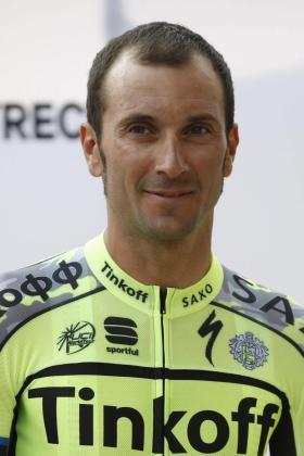 Fotografía de archivo fechada el 2 de julio de 2015 que muestra al ciclista italiano Ivan Basso durante la ceremonia inaugural de la 102 edición del tour de Francia 2015 en Utrecht, Holanda.