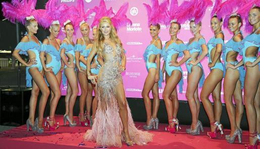 Paris Hilton, a su llegada a Amnesia.