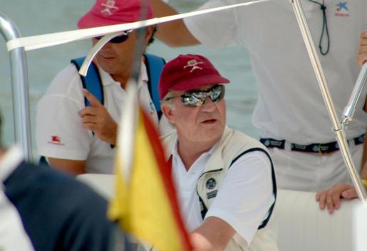 El rey emérito durante sus vacaciones en Mallorca en 2004.