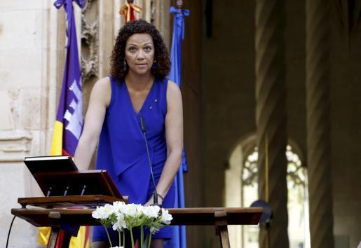 Catalina Cladera, prometiendo su cargo el pasado 3 de julio.