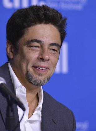El actor puertorriqueño Benicio del Toro en una conferencia de prensa.