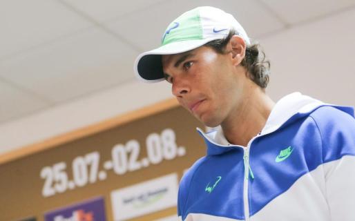 Rafael Nadal en la conferencia de prensa previa al torneo de Hamburgo.