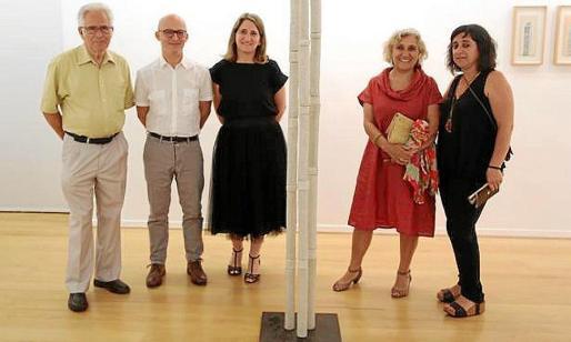 Josep Coll, Jordi Mestre, Amanda Corral Reynés, directora de la Fundació; Margalida Escalas y Francisca Coll.