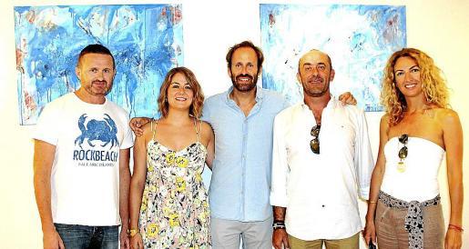 Damon Mark, Pilar Tirado, Juan Massanet, Toni Tirado y Cristina de la Cruz.