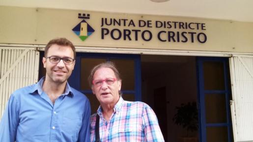 Josep Barrull, en una instantanea como nuevo representante del Ajuntament de Manacor en Porto Cristo.