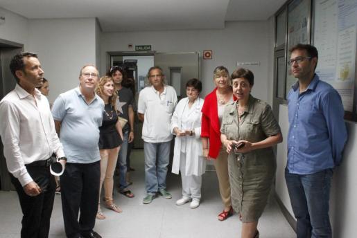 Momento de la visita de la consellera de Salut al hospital de MAnacor.