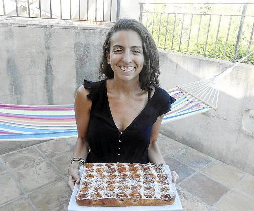 La coca de albaricoques de Pilar Pieras.
