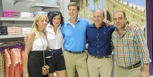 Sandra Horrach, Reyes Flores, Cayetano Martínez de Irujo, Francisco Javier Burgas y Francisco Gallardo.