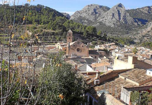 Vista del municipio de Bunyola.