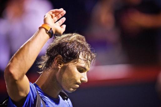 Rafael Nadal se despide del público de Montreal.