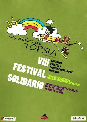 Cartel del Festival Solidario a favor de los niños de Topsia.