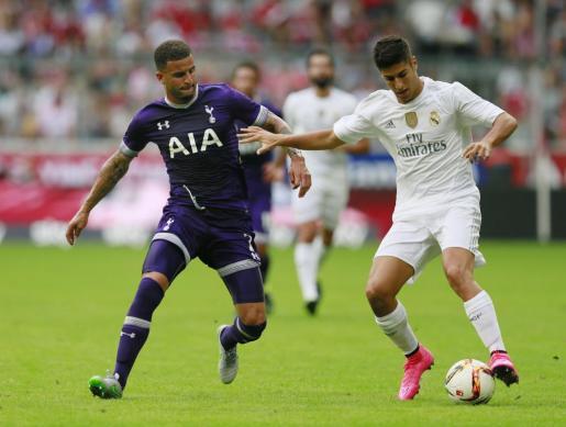 Asensio intervino vestido de blanco en el partido de la Audi Cup en Múnic frente al Tottenham Hotspur.