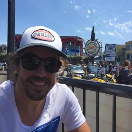 Fernando Alonso en San Francisco.
