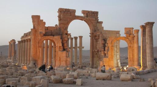 El templo de Baalshamin, que ha sido destruido por milicianos del Estado Islámico.