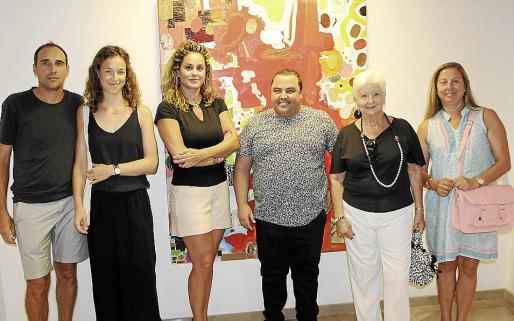 Matías Picornell, Johanna Schachner, Rosa Vanrell, Gabriel Pereiro, Paquita Thomás y Polita Rigo.