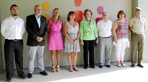 Miquel Comas, Miquel Ensenyat, Teresa Palmer, Francina Armengol, la reina Sofía, Tomeu Catalá, Xelo Huertas y Fernando Aznar Ladrón de Guevara.