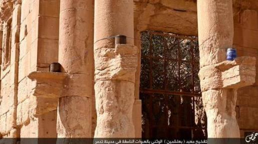 Artefactos en las columnas de Baalshamin.