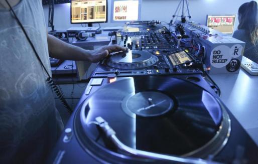 Estudios de la emisora Ibiza Global Radio.