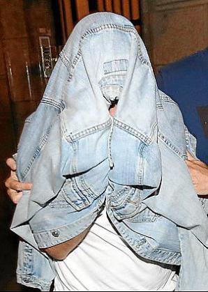Richie, el acusado de organizar orgías en Palma y traficar con drogas en las mismas, durante su detención.