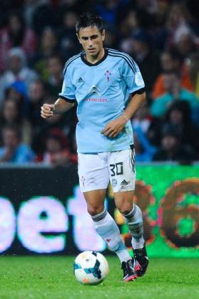 David Costas, durante un partido con el Celta.