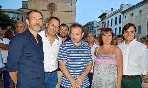 Biel Barceló, Joan Xemena, Miquel Barceló, Francina Armengol y Francesc Miralles.