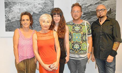 Valeria Castellet, Mila Abadía, Roma Gutiérrez, David Campaner y Curro Viera.