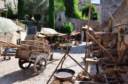 Imagen del decorado para el rodaje de la serie Juego de Tronos en Girona.