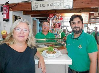 Lomo con albahaca y calabacín de Joana, Carlos y Raúl, del bar Bocadillos
