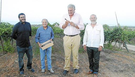 Vicenç Vidal, Antoni Bennàssar, Fernando Romay y Miquel Jaume.
