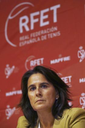 La nueva capitana del equipo español de Copa Davis, Conchita Martínez, en una imagen de archivo.