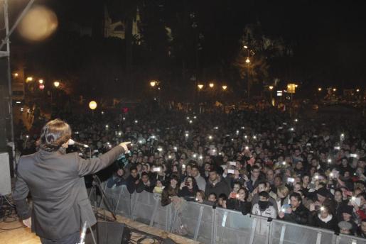 Imagen de archivo de un concierto durante las fiestas de Sant Sebastià.