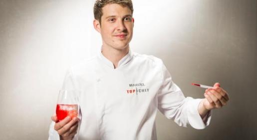 Marcel Ress, con el delantal de Top Chef.