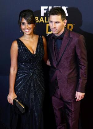 Imagen de archivo de Leo Messi y Antonella Roccuzzo.