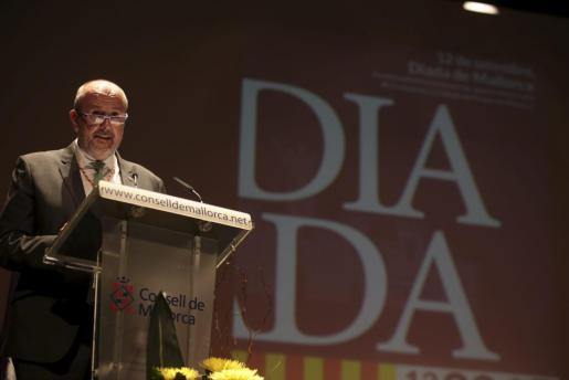 Miquel Ensenyat, durante su intervención.