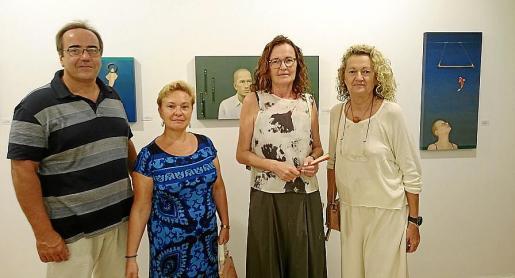 Fernando Soberats, Antònia Garau, Dolores Sampol y Concha Sampol.