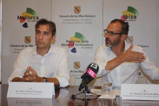 El vicepresidente del Govern y conseller de Innovación, Investigación y Turismo, Biel Barceló, y el director general de Fondos Europeos, Félix Pablo Pindado.