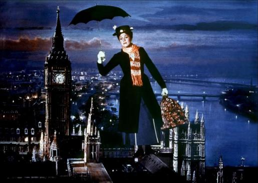 Imagen de «Mary Poppins» (1964), protagonizada por Julie Andrews.